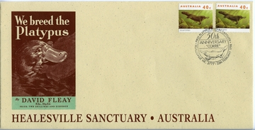 Envelope -  Healesville Sanctuary 50th Anniversary Platypus envelope